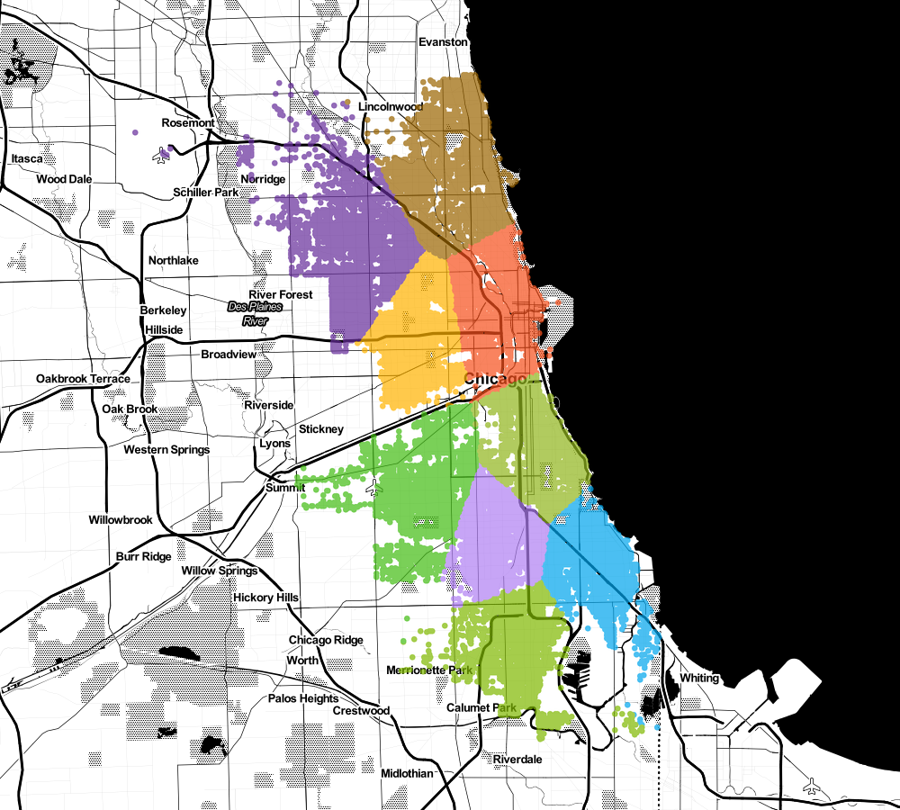 chicago robberies clustering